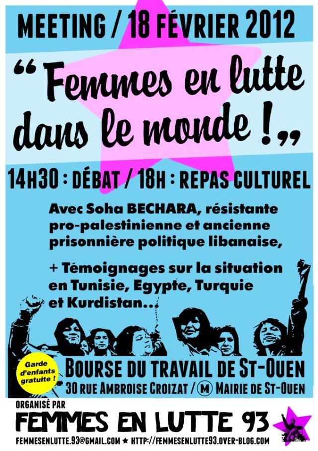[Saint Ouen]Meeting Femmes en lutte dans le monde Femmes-en-lutte-93
