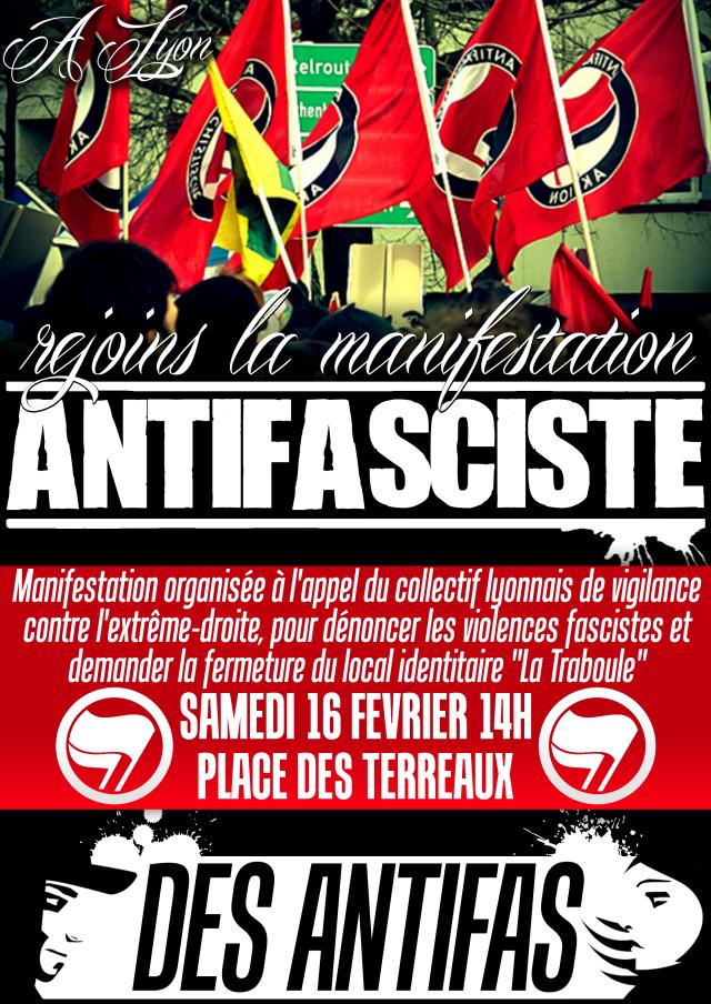 affiche Lyon antifa 2