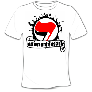 t-shirt antifa logo