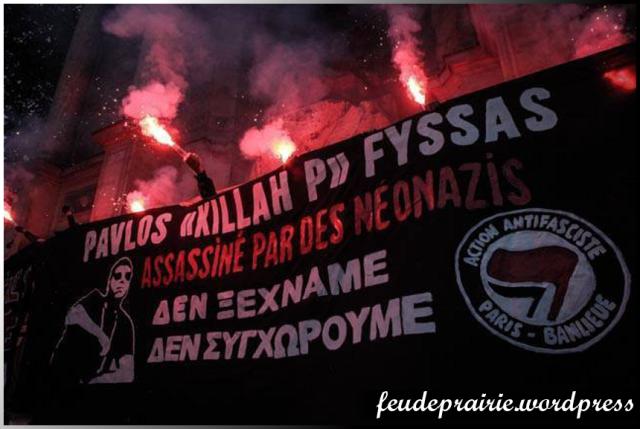 antifa Paris pavlos fyssas