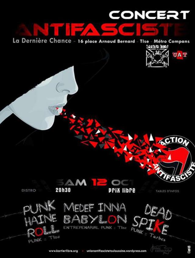 antifa Toulouse concert
