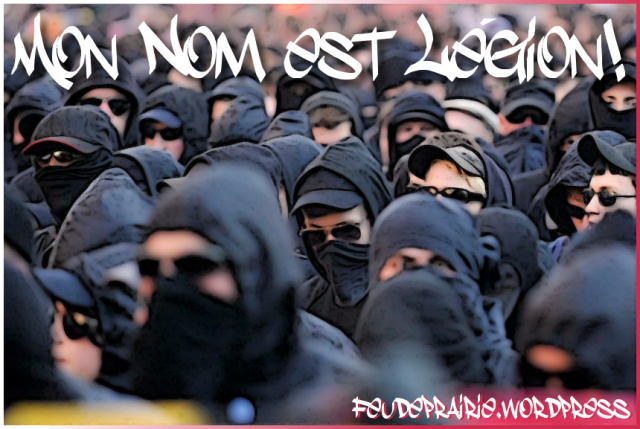 black bloc fighters